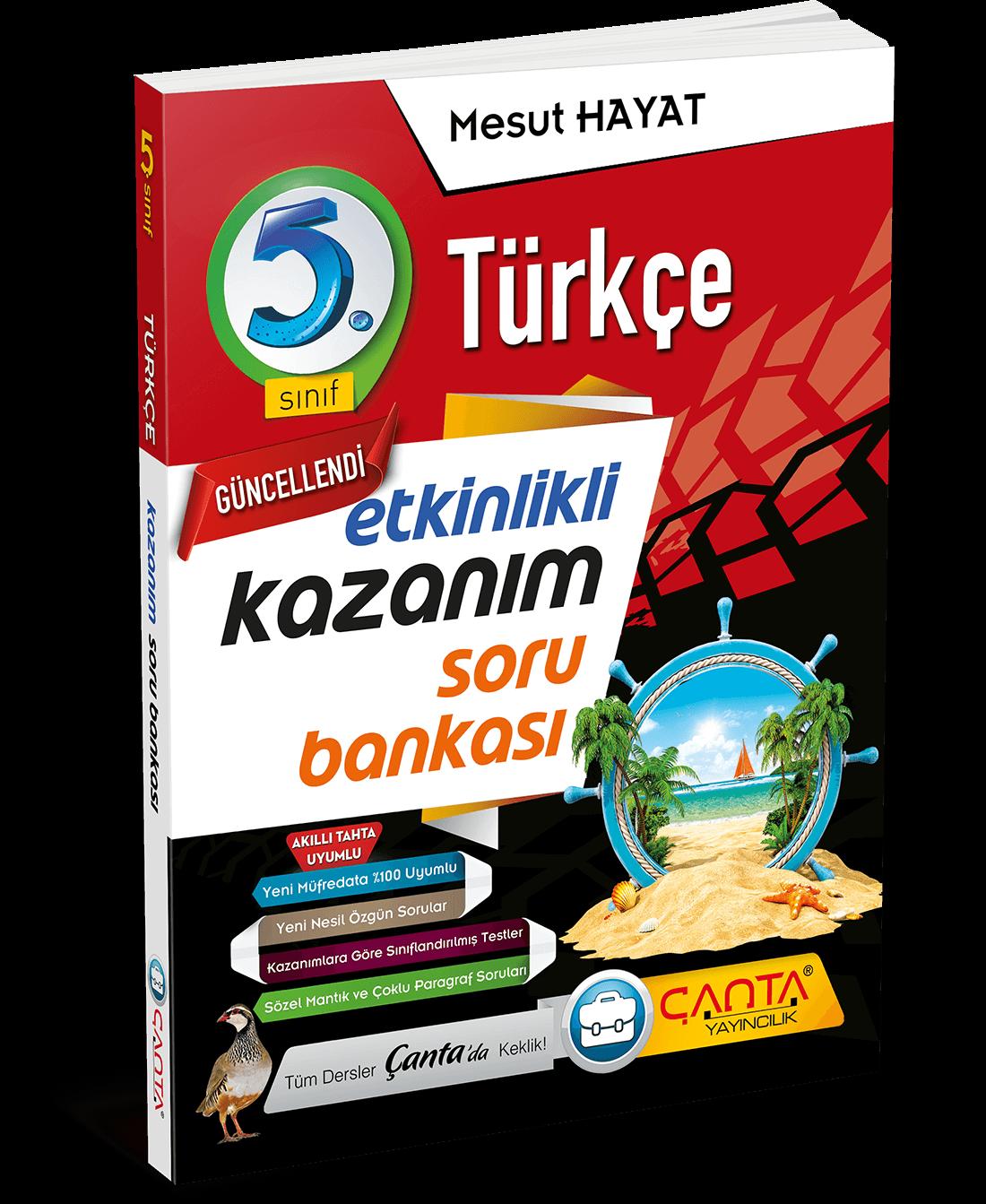 5. Sınıf – Türkçe Etkinlikli Kazanım Soru Bankası