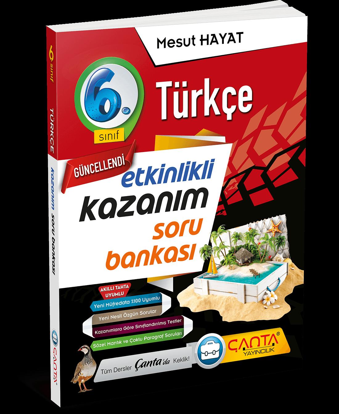 6. Sınıf – Türkçe Etkinlikli Kazanım Soru Bankası