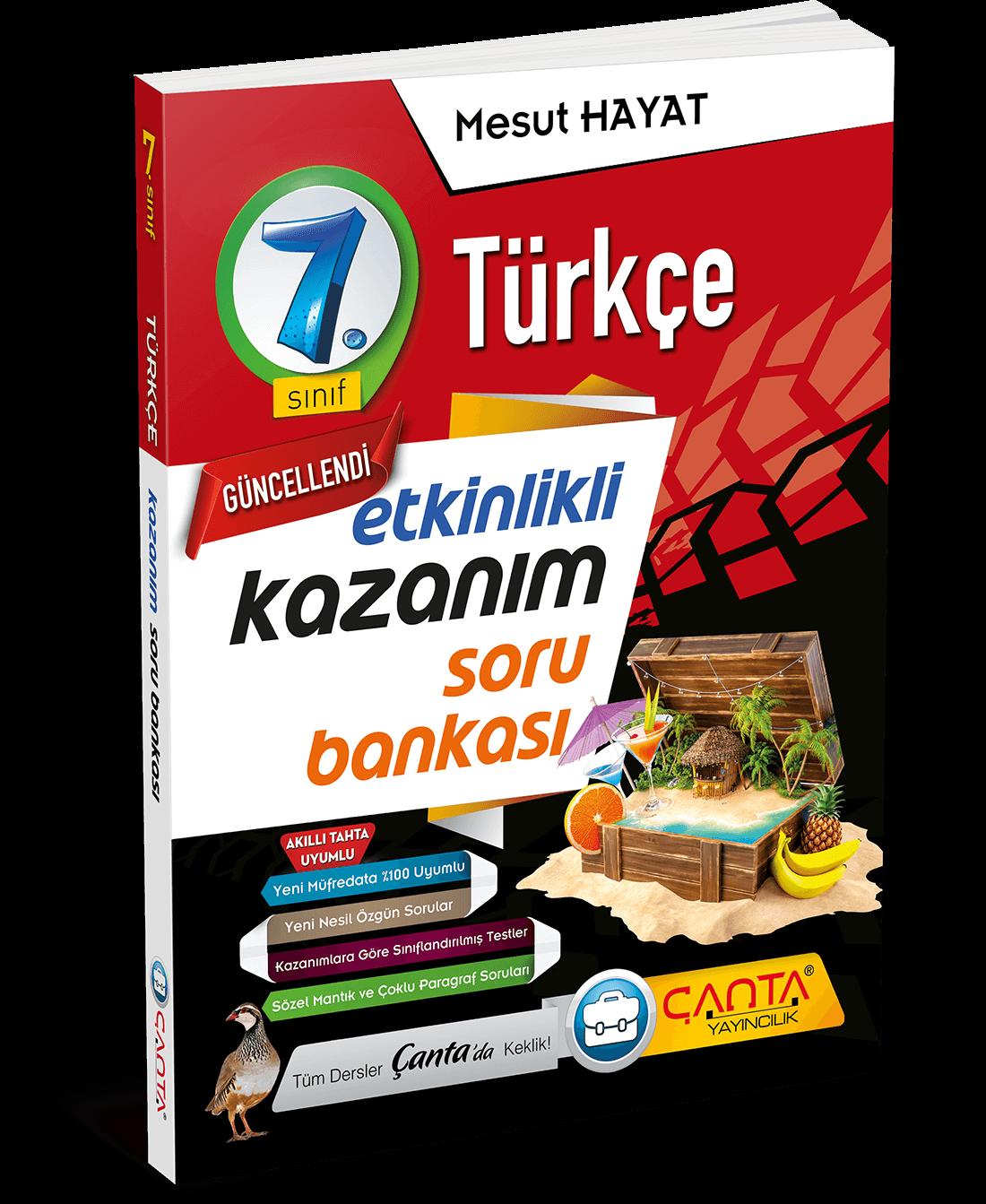 7. Sınıf – Türkçe Etkinlikli Kazanım Soru Bankası