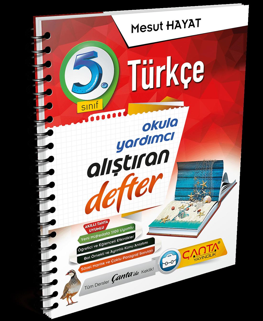 5. Sınıf – Türkçe Alıştıran Defter