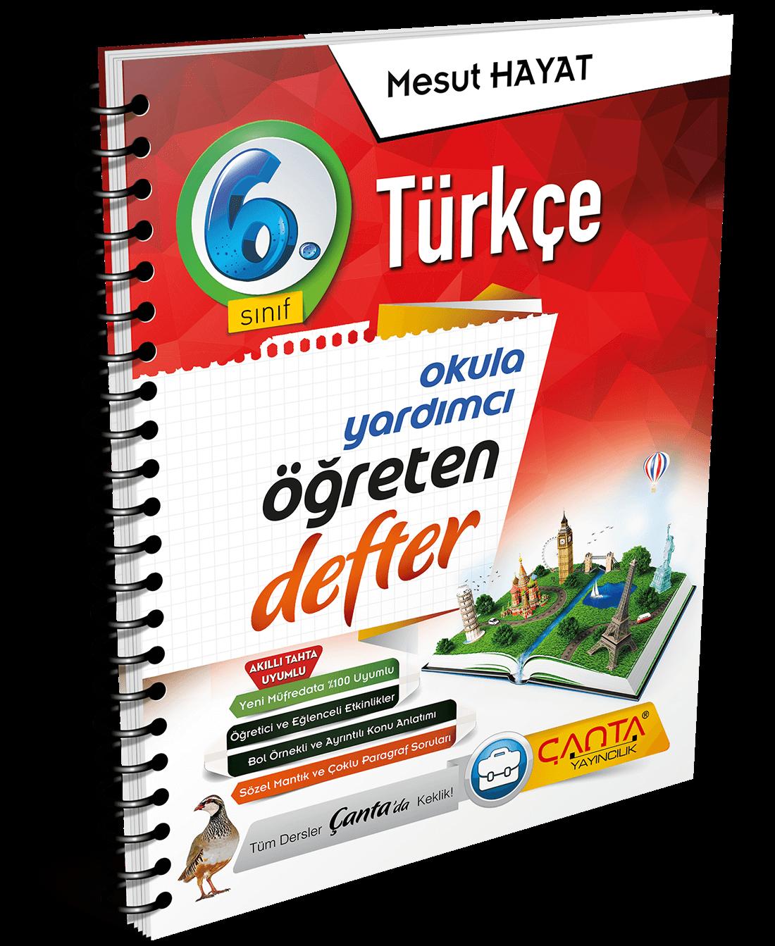 6. Sınıf – Türkçe Öğreten Defter