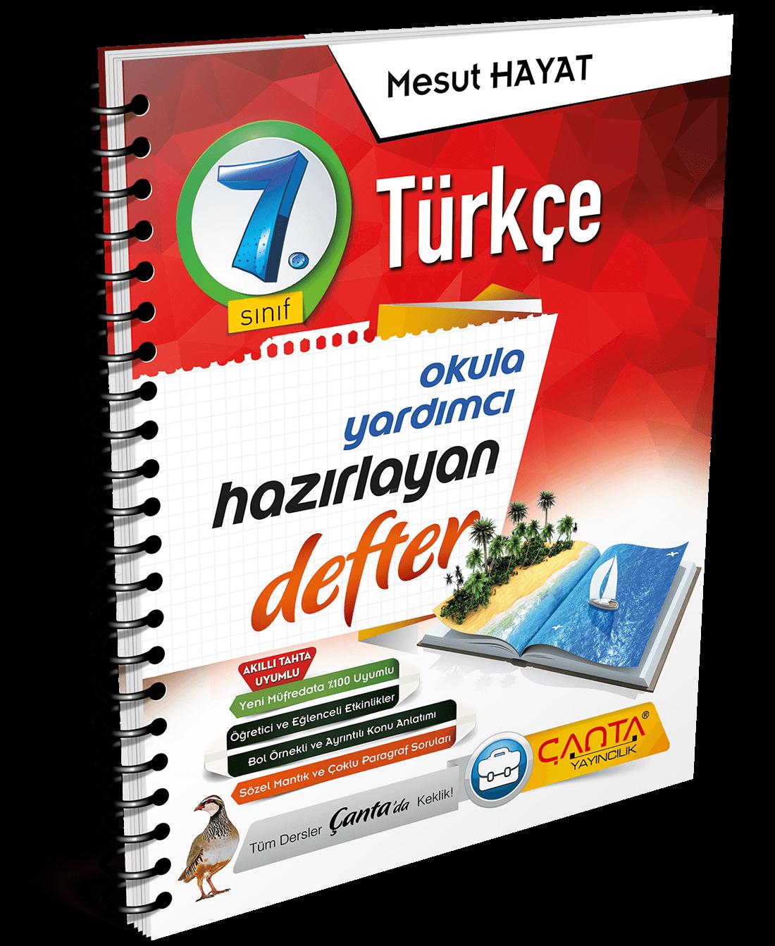 7. Sınıf – Türkçe Hazırlayan Defter