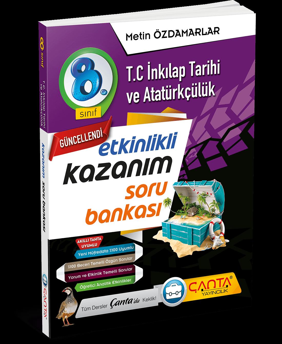 8. Sınıf – T.C İnkılap Tarihi ve Atatürkçülük Etkinlikli Kazanım Soru Bankası