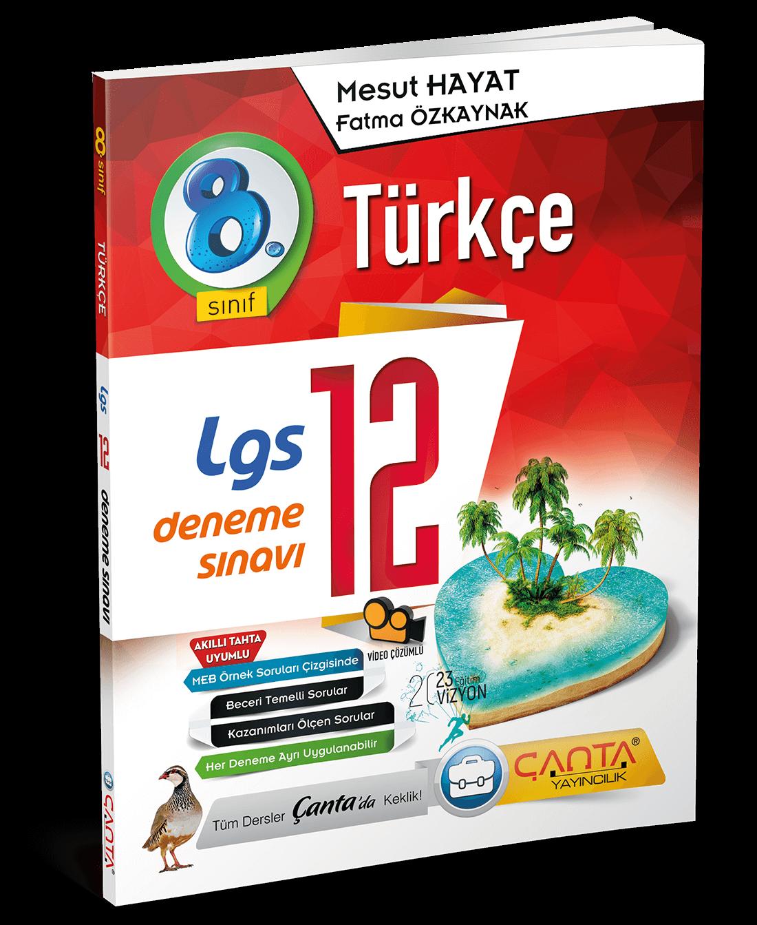 8. Sınıf – Türkçe – LGS 12 Deneme Sınavı