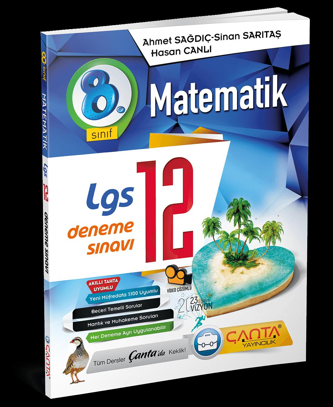 8. Sınıf – Matematik – LGS 12 Deneme Sınavı